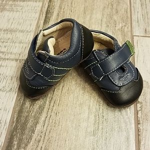 Beautifully made infant shoes.